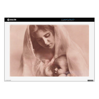 """MADONNA AND CHILD 17"""" LAPTOP DECAL"""