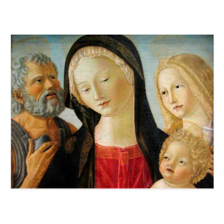 Madonna and Child, St Jerome and Mary Magdalene Postcard