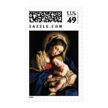 Madonna and child stamp