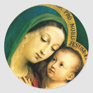 MADONNA AND CHILD STICKERS