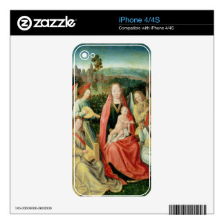 Madonna and Child surrounded by Angels Decals For iPhone 4S