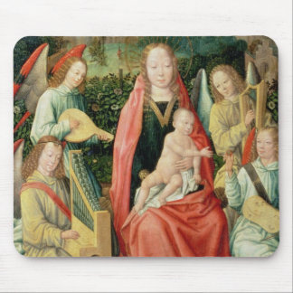 Madonna and Child surrounded by Angels Mouse Pad