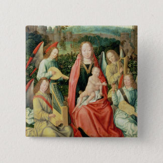 Madonna and Child surrounded by Angels Pinback Button