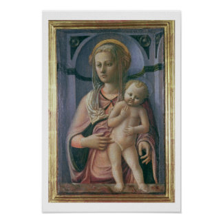 Madonna and Child (tempera on panel) Poster