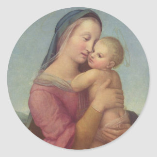 Madonna and Child (The Tempi Madonna) by Raphael Classic Round Sticker