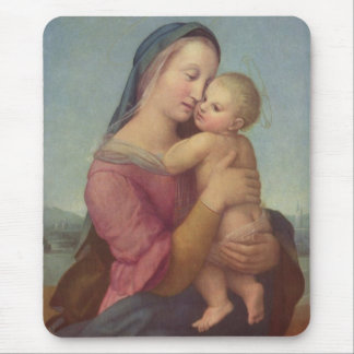Madonna and Child (The Tempi Madonna) by Raphael Mouse Pad