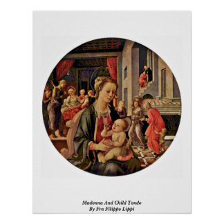 Madonna And Child Tondo By Fra Filippo Lippi Posters