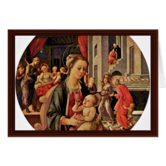 Madonna And Child Tondo By Lippi Fra Filippo Card