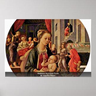 Madonna And Child Tondo By Lippi Fra Filippo Poster