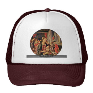 Madonna And Child Tondo By Lippi Fra Filippo Trucker Hat