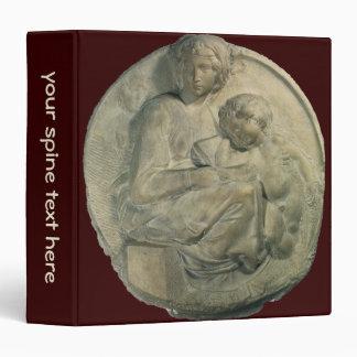 Madonna and Child, Tondo Pitti by Michelangelo 3 Ring Binder