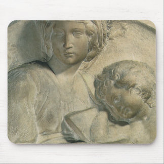 Madonna and Child, Tondo Pitti by Michelangelo Mouse Pad