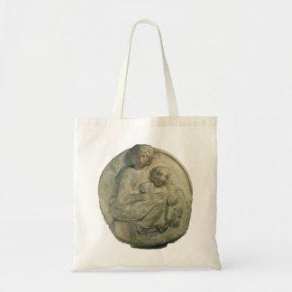 Madonna and Child, Tondo Pitti by Michelangelo Tote Bag