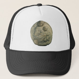 Madonna and Child, Tondo Pitti by Michelangelo Trucker Hat