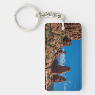 Madonna And Child Two Nuns Rocks Keychain