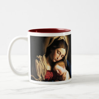 Madonna and Child Two-Tone Coffee Mug