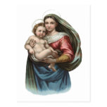 Madonna and Child Vintage Wrapping Paper Post Card