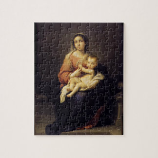 Madonna and Child - Virgin Mary - Murillo Jigsaw Puzzle
