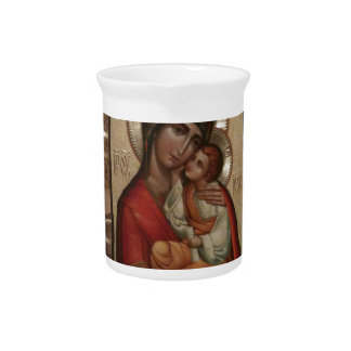 Madonna and child; Virgin Mary Beverage Pitcher