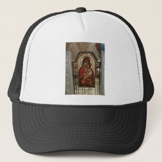 Madonna and child; Virgin Mary Trucker Hat