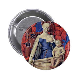 Madonna And Child [Virgin With Child And Angels] ( 2 Inch Round Button