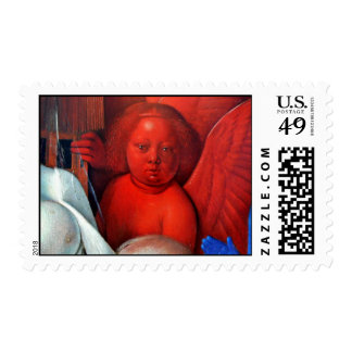 Madonna And Child [Virgin With Child And Angels] ( Stamp
