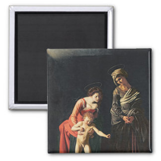 Madonna and Child with a Serpent, 1605 2 Inch Square Magnet