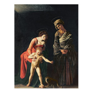 Madonna and Child with a Serpent, 1605 Postcard