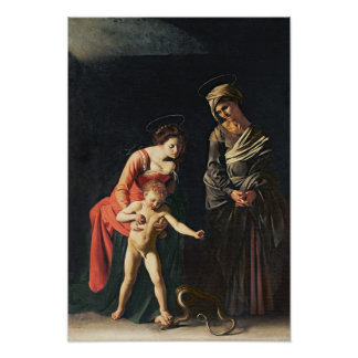 Madonna and Child with a Serpent, 1605 Posters