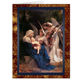 Madonna and Child with Angel Musicians Christmas Card