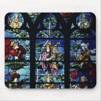 Madonna and Child with angels and portraits reflec Mouse Pad