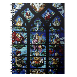 Madonna and Child with angels and portraits reflec Note Book