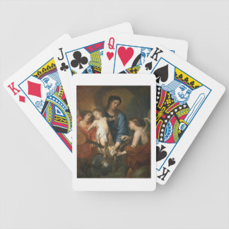 Madonna and Child with angels Bicycle Playing Cards