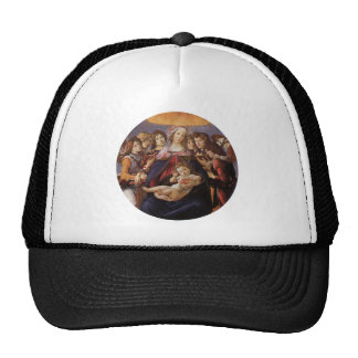 Madonna and Child with Angels by Botticelli Trucker Hat