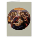 Madonna and Child with Angels by Sandro Botticelli Greeting Cards