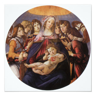 Madonna and Child with Angels by Sandro Botticelli Personalized Invites