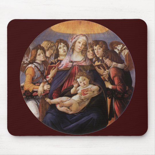 Madonna and Child with Angels by Sandro Botticelli Mouse Pad