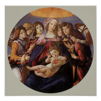 Madonna and Child with Angels by Sandro Botticelli Print