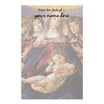 Madonna and Child with Angels by Sandro Botticelli Customized Stationery