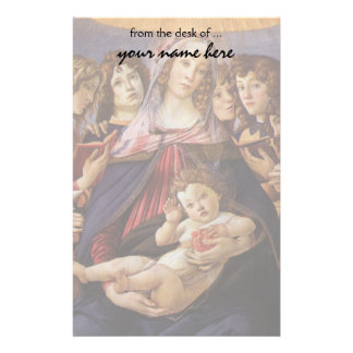 Madonna and Child with Angels by Sandro Botticelli Stationery