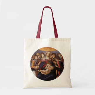 Madonna and Child with Angels by Sandro Botticelli Tote Bag