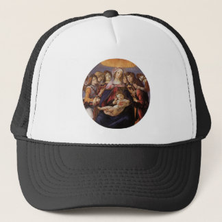 Madonna and Child with Angels by Sandro Botticelli Trucker Hat