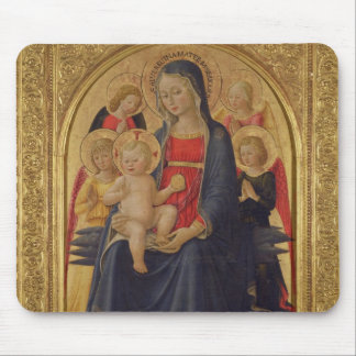 Madonna and Child with Angels, c.1467 (oil on pane Mouse Pad