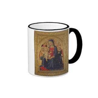 Madonna and Child with Angels, c.1467 (oil on pane Coffee Mug