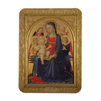 Madonna and Child with Angels, c.1467 (oil on pane Rectangular Photo Magnet