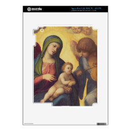 Madonna and Child with Angels c.1510-15 (oil on pa Decals For iPad 3