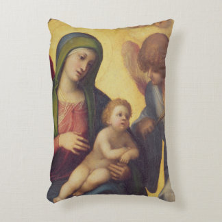 Madonna and Child with Angels c.1510-15 (oil on pa Decorative Pillow