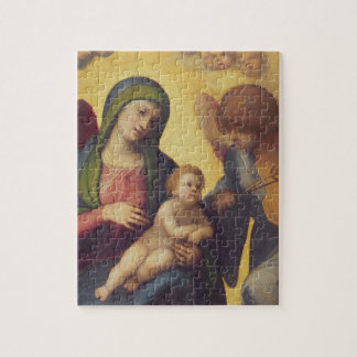 Madonna and Child with Angels c.1510-15 (oil on pa Jigsaw Puzzle