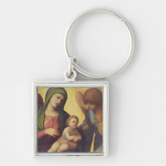 Madonna and Child with Angels c.1510-15 (oil on pa Keychain