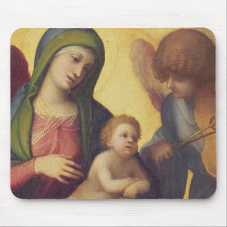 Madonna and Child with Angels c.1510-15 (oil on pa Mouse Pad